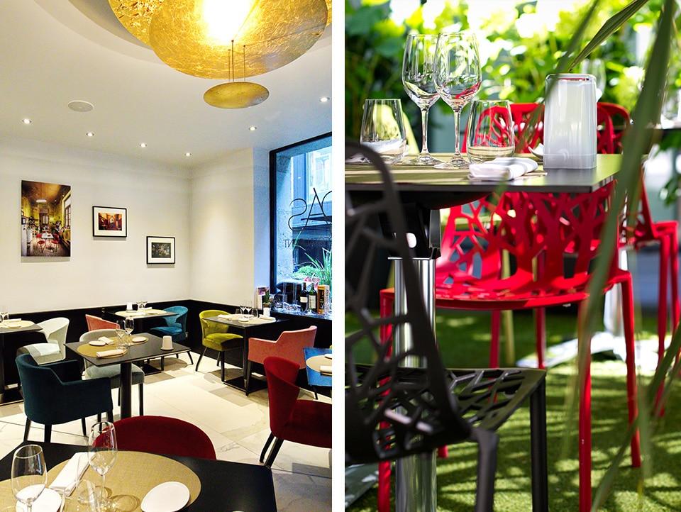 restaurant étoilé l'Odas Rouen 4 passage maurice l'enfant rouen 76000 salle terrasse