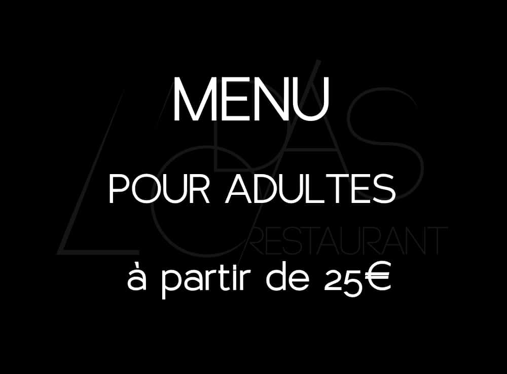 menu l'odas restaurant étoilé rouen